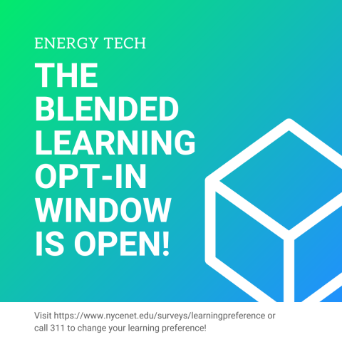 """Blended Learning Opt-In Window is Open"""